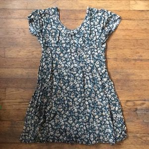 Vintage 90s PERFECT Floral Grunge Baby Doll Dress